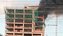 Incêndio atinge hospital infantil em construção em Fortaleza (CE)