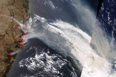 Fumaça viajou 12 mil quilômetros até chegar na Argentina