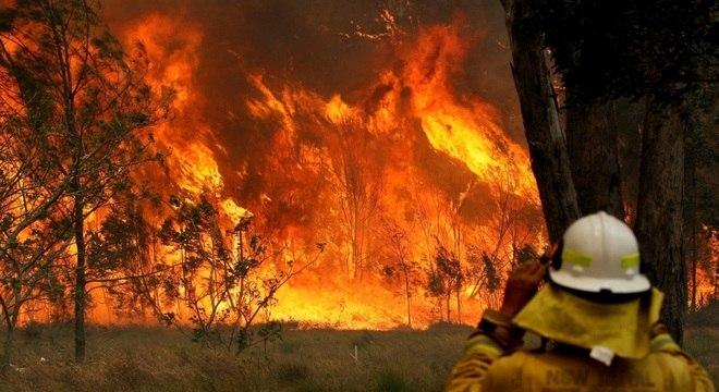 Incêndios de grandes proporções atingem o leste da Austrália