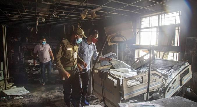 Três pacientes com covid-19 em estado grave morreram durante incêndio