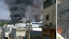Sobe para 16 o número de equipes no combate ao incêndio em Barueri