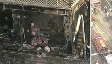 Incêndio destrói loja e um carro na Brasilândia, zona norte de SP