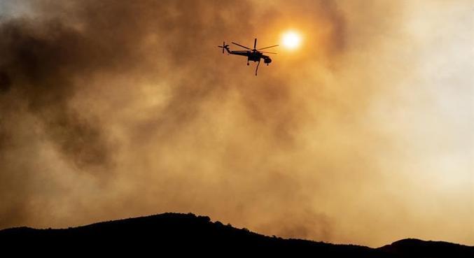 Incêndio de grandes dimensões atinge a região sudeste do Estado de Oregon, nos EUA