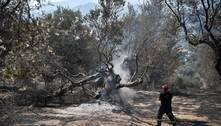 Incêndio arrasa o noroeste da península grega do Peloponeso