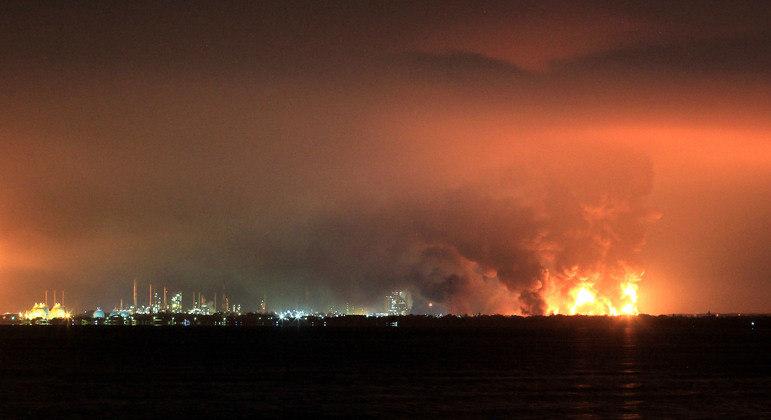 Incêndio podia ser visto de longe