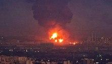 Refinaria de petróleo pega fogo após explosão em gasodutono Irã
