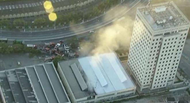 Não há registros de vítimas do incêndio que ocorreu na manhã desta terça (21)