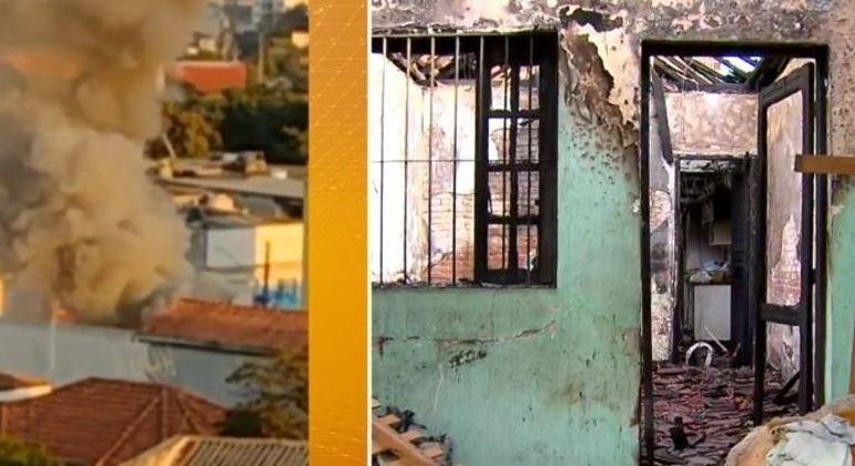 Casa onde três crianças morreram queimadas corre risco de desabar, segundo Defesa Civil