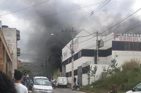 As causas do incêndio não foram reveladas