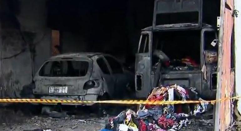 Incêndio destruiu o galpão de uma ONG em São Mateus, na zona leste de SP