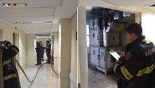 Incêndio atinge hospital PérolaByington, no centro de SP