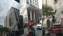 Vídeo: incêndio atinge prédio na República, centro de São Paulo