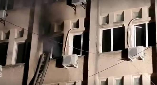 Incêndio ocorreu na UTI (Unidade de Terapia Intensiva) do hospital