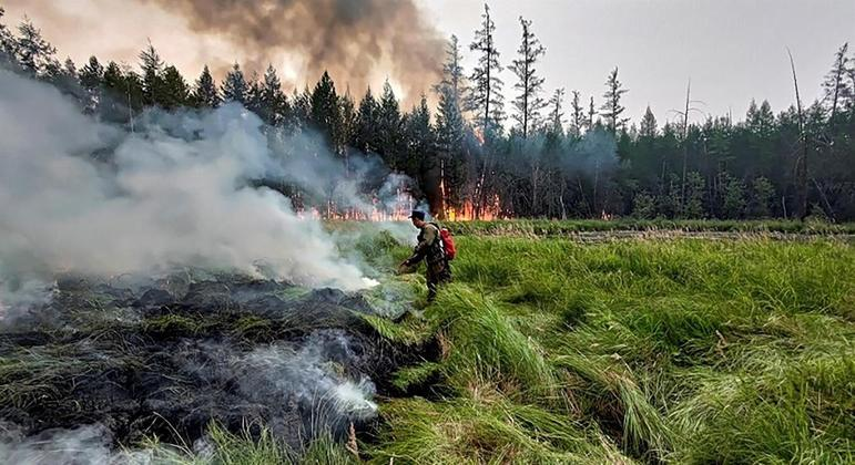 Agência federal de vigilância de florestas da Rússia registra 4 milhões de hectares destruídas pelo fogo