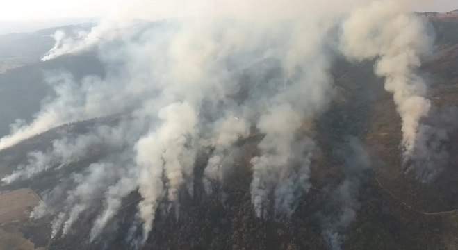 Incêndios de grandes proporções atingem a Serra da Mantiqueira
