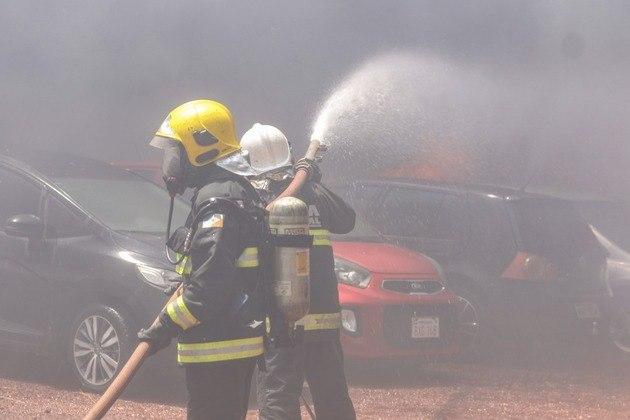 Dezenas de bombeiros e brigadistas trabalharam para a extinção das chamas em Palmas