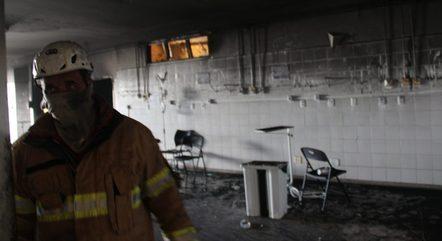 Fogo deixou rastro de destruição no hospital