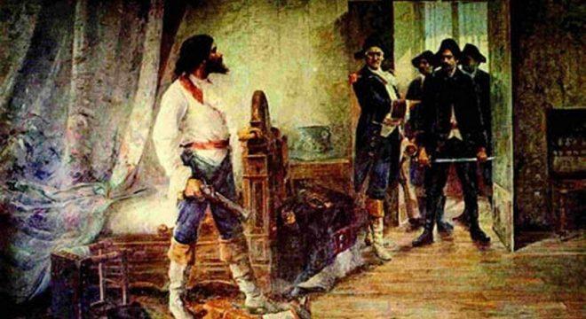 Inconfidente sendo preso pelo governo Português