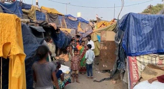 Suprema Corte indiana determinou a retirada de 200 mil pessoas de um bairro irregular