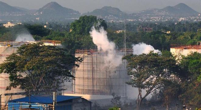 Gás estireno vazou de fábrica da sul-coreana LG em Visakhapatnam, na Índia