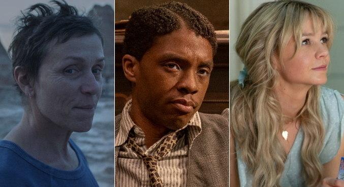 Frances McDormand, Chadwick Boseman e Carey Mulligan estão indicados
