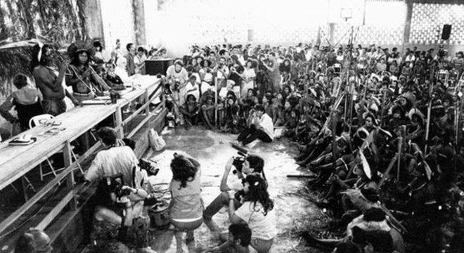 Encontro dos Povos Indígenas reuniu grupos contrários à construção de Belo Monte em 1989
