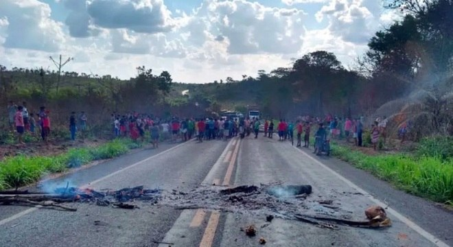 Indígenas protestaram após atentado na semana passada