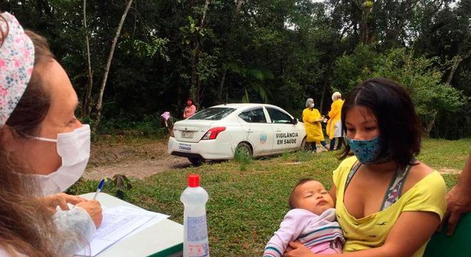 Testes foram feitos em diferentes aldeias indígenas de São Paulo