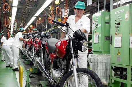 Produção de motos subiu 13,1% em setembro