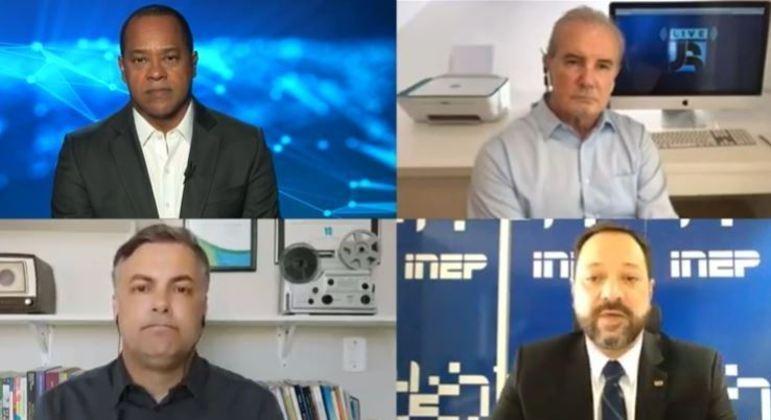 'Live JR' contou com a participação do presidente do Inep, Alexandre Lopes, nesta sexta (29)