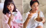 Quem nunca passou o dia de pijama sobrevivendo dos aplicativos de comida? Pois é, acordar com essa cara perfeita para tomar o café da manhã é humanamente impossível