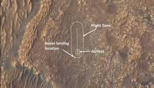 Nasa mostra local onde helicóptero tentará voo em Marte