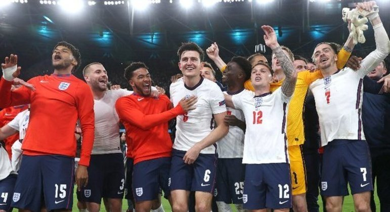 A festa da classificação da Inglaterra