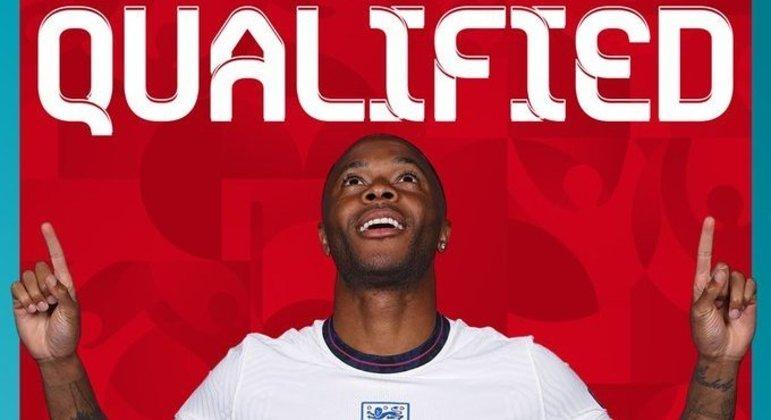 A Inglaterra qualificada, graças a Sterling