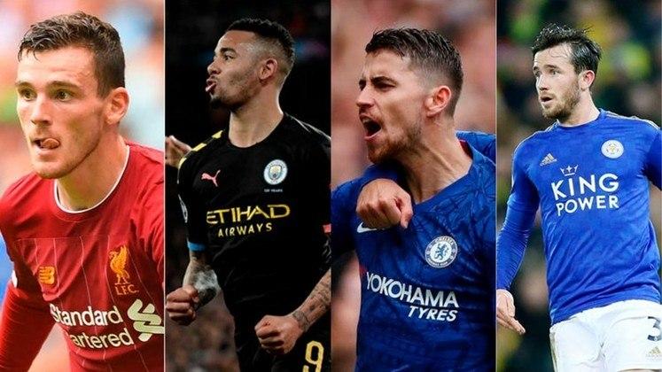 Inglaterra (Premier League) - Liverpool, Manchester City, Chelsea e Leicester são os quatro primeiros colocados e garantiriam as vagas para o principal torneio do continente na próxima temporada