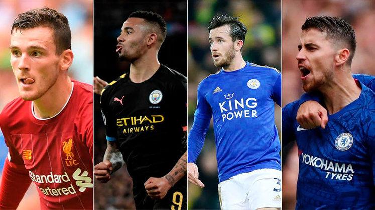 Inglaterra (Premier League) - Liverpool, Manchester City, Leicester e Chelsea são os quatro primeiro colocados e garantiriam as vagas para o principal torneio do continente na próxima temporada.