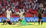 O gol da vitória do time inglês foi de Raheem Sterling, atacante do Manchester City, também da Inglaterra