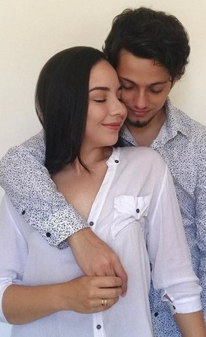 Ingrid e seu noivo Julio