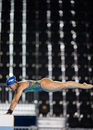 Ingrid Oliveira durante treino em Toronto