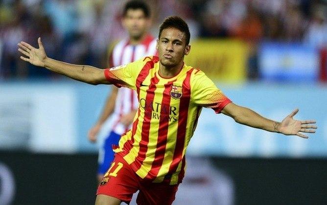 Iniciando sua carreira na Europa, Neymar brilhou na conquista da Supercopa da Espanha, contra o Atlético de Madrid, ao fazer gol de empate no 1 a 1 fora de casa, no estádio Vicente Calderón. O gol de empate foi o primeiro oficial com a camisa do clube catalão e rendeu seu primeiro título