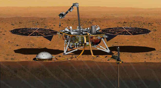 Sonda InSight fez o primeiro registro de um terremoto em Marte