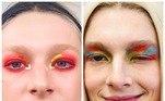 A série Euphoria mostra muito bem o sucesso das maquiagens coloridas, assimétricas e holográficas da personagem Jules. Aproveite a festa para testar sem medoVale seu clique:Mulher fica com boca deformada após fazer