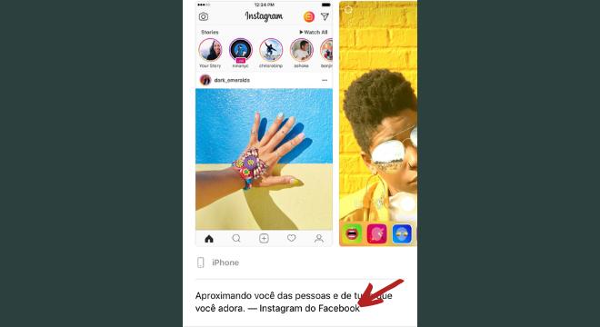 """""""Instagram do Facebook"""" exibido na App Store"""