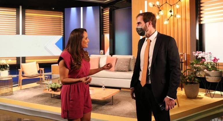 Renata Alvez conversa com José Ricardo da Veiga