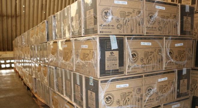 Alimentos foram doados a famílias em situação de vulnerabilidade durante a quarentena