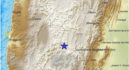 Instituto Geológico dos Estados Unidos registra terremoto na Argentina