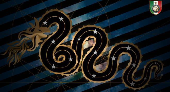 """A """"Biscione"""". serpente mitológica da Inter"""