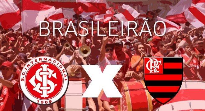 Inter encara o Flamengo no Beira-Rio Crédito: Arte / CP