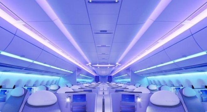 Conceito da cabine do Airbus A350 XWB