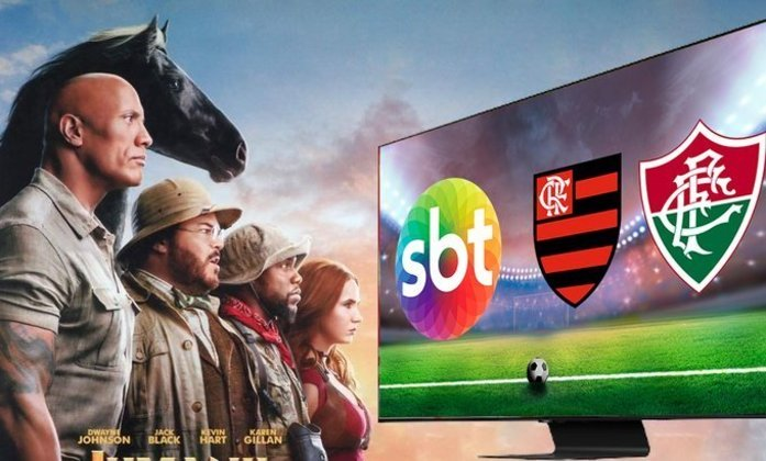 Internautas cutucaram a Rede Globo, que exibiu o filme 'Jumanji' durante a final no SBT